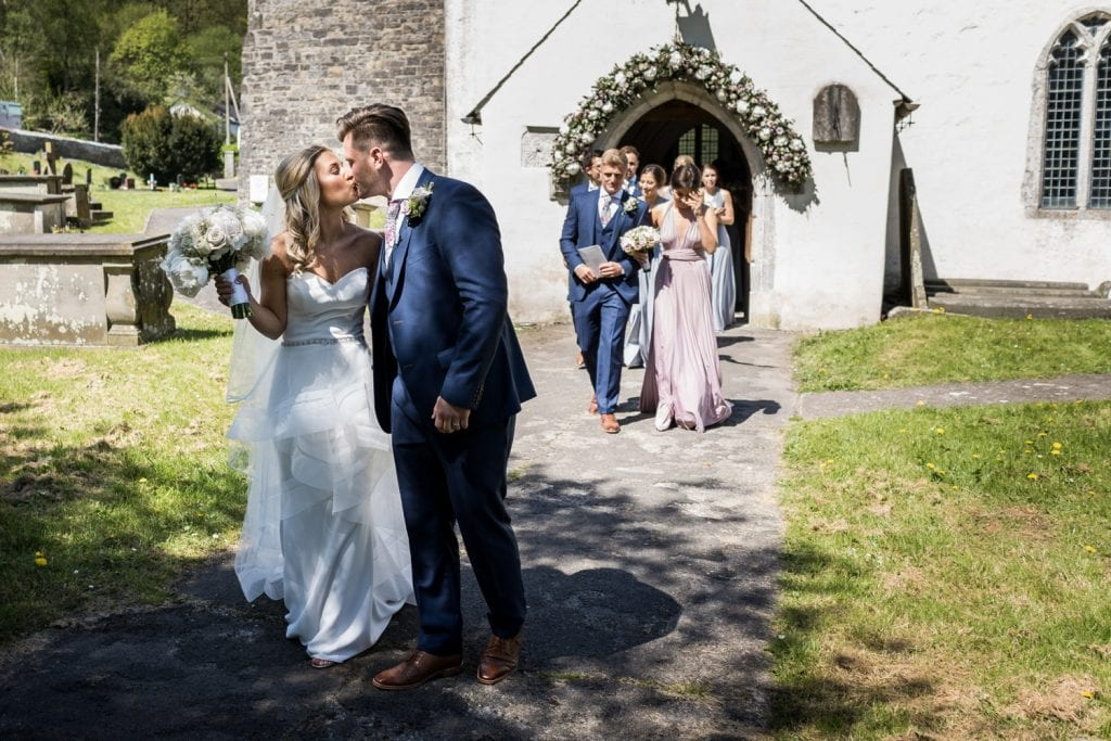South Wales church wedding ceremony
