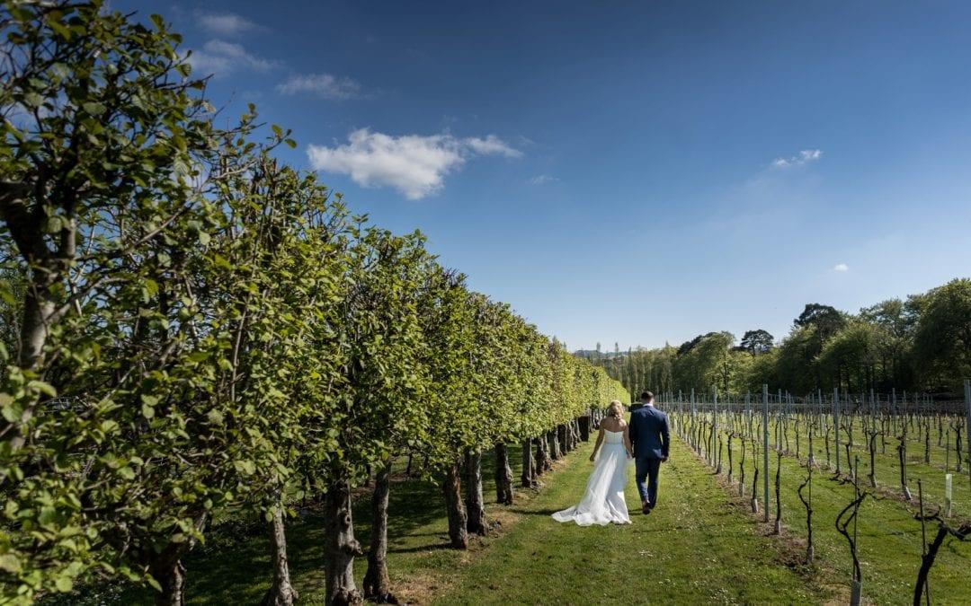 Wedding at Llanerch Vineyard – Fran & Tom
