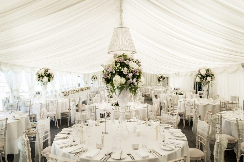 Llanerch Vineyard wedding marquee reception