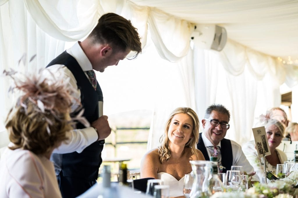 wedding day speeches at Llanerch vineyard