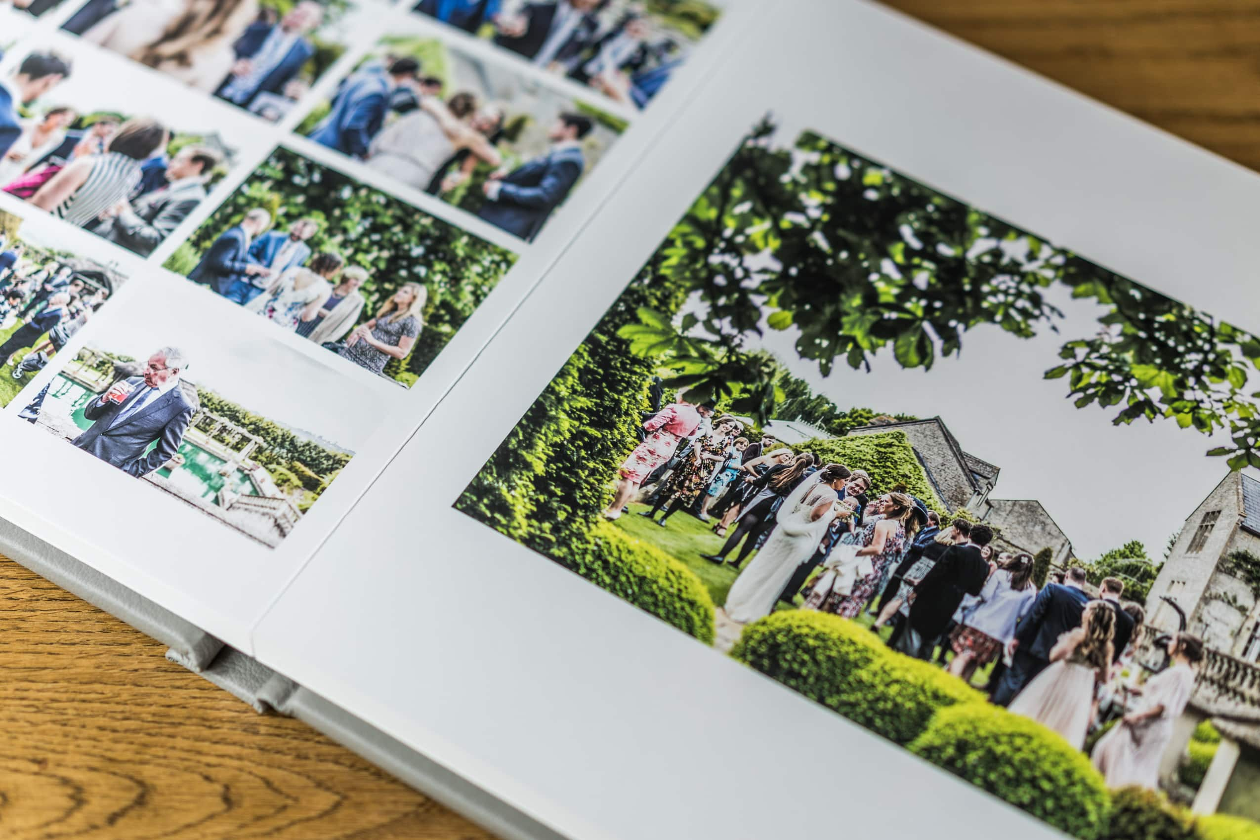 South Wales wedding photography album