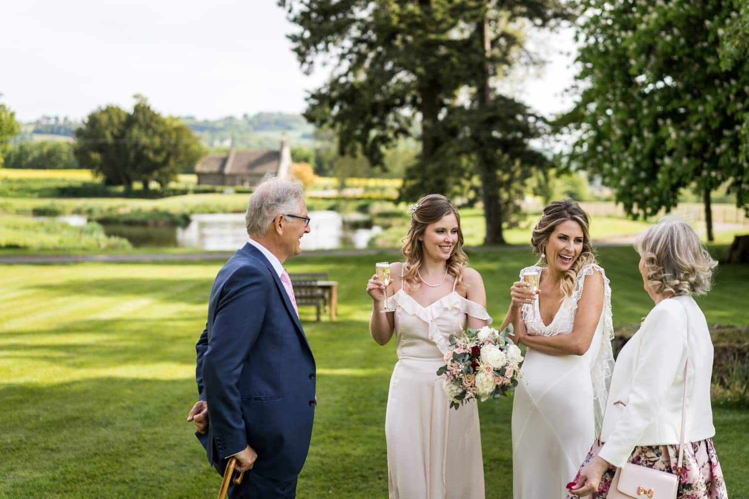 Wedding day at Llansantffraed Court, Monmouthshire in South Wales