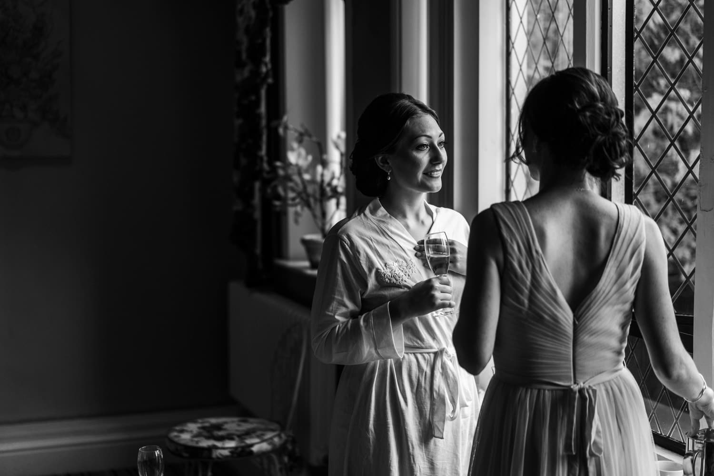bridal preps for summer wedding at miskin manor