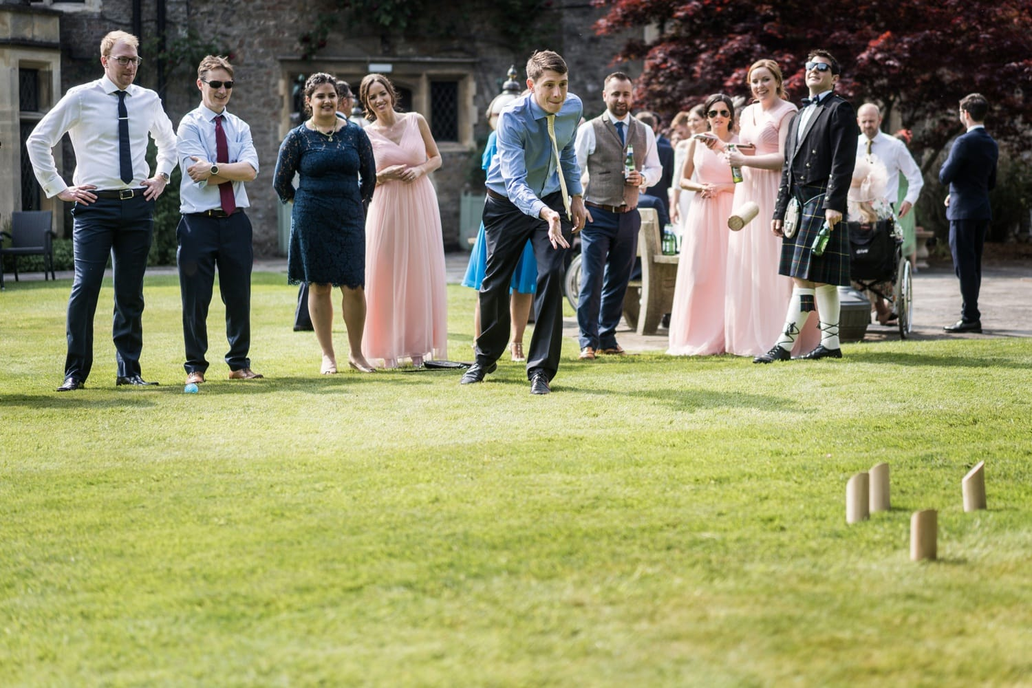 summer wedding at miskin manor in south wales