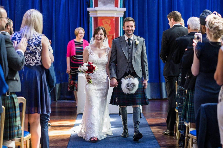 Wedding ceremony in Oran Mor, Glasgow