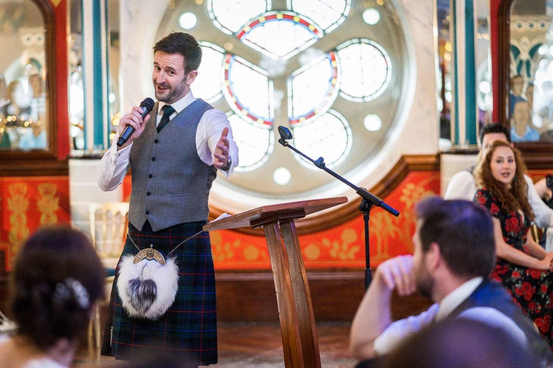 Wedding speeches at the Oran Mor, Glasgow