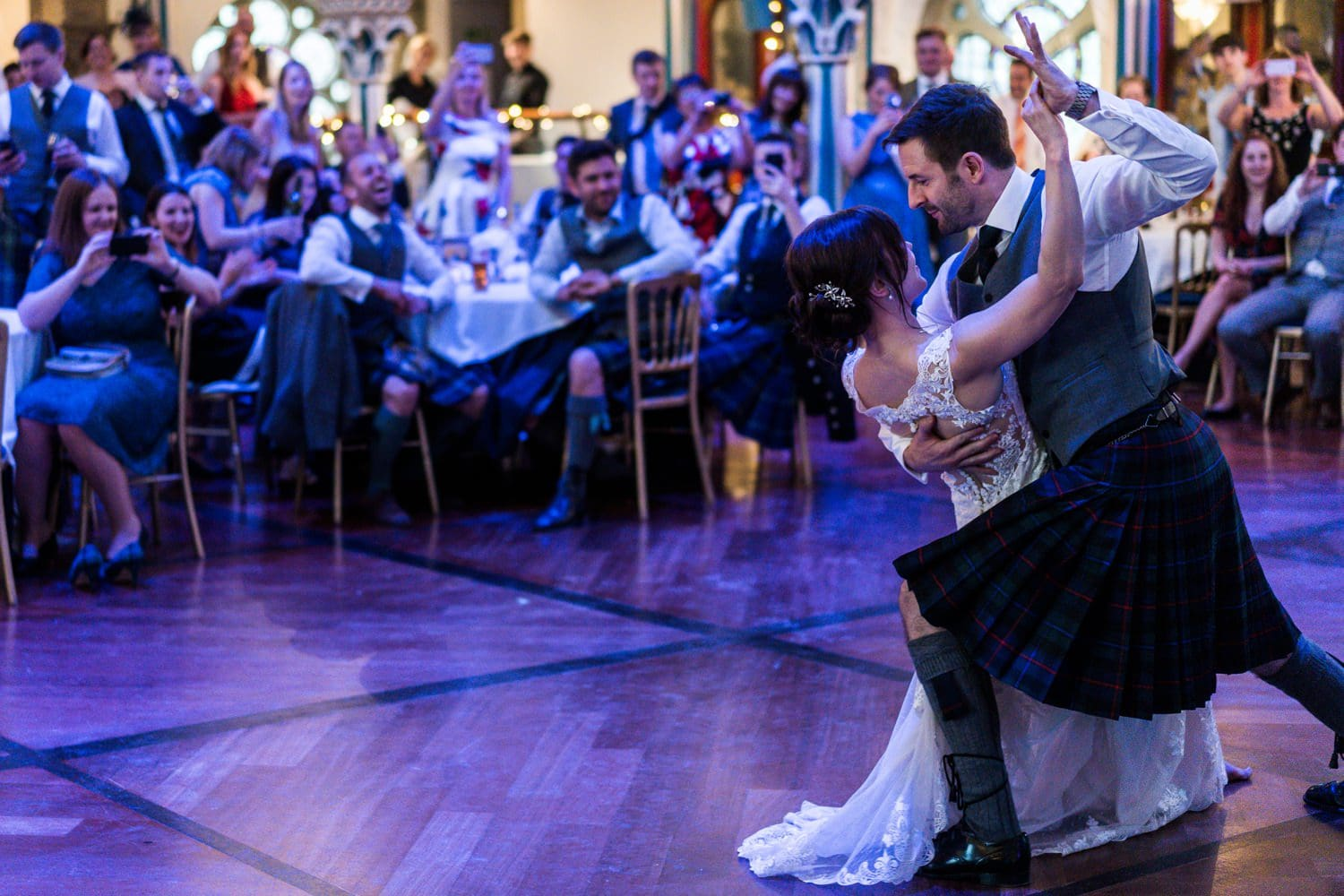 Wedding first dance at the Oran Mor, Glasgow