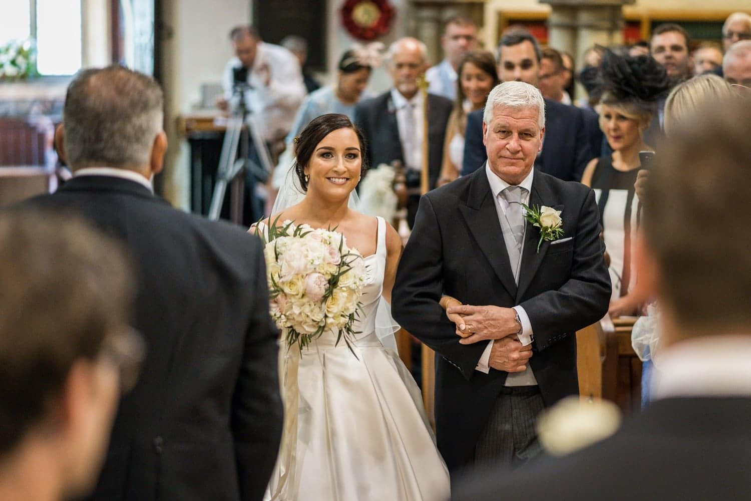 Wedding ceremony at St Isaan's Church in Llanishen, Cardiff