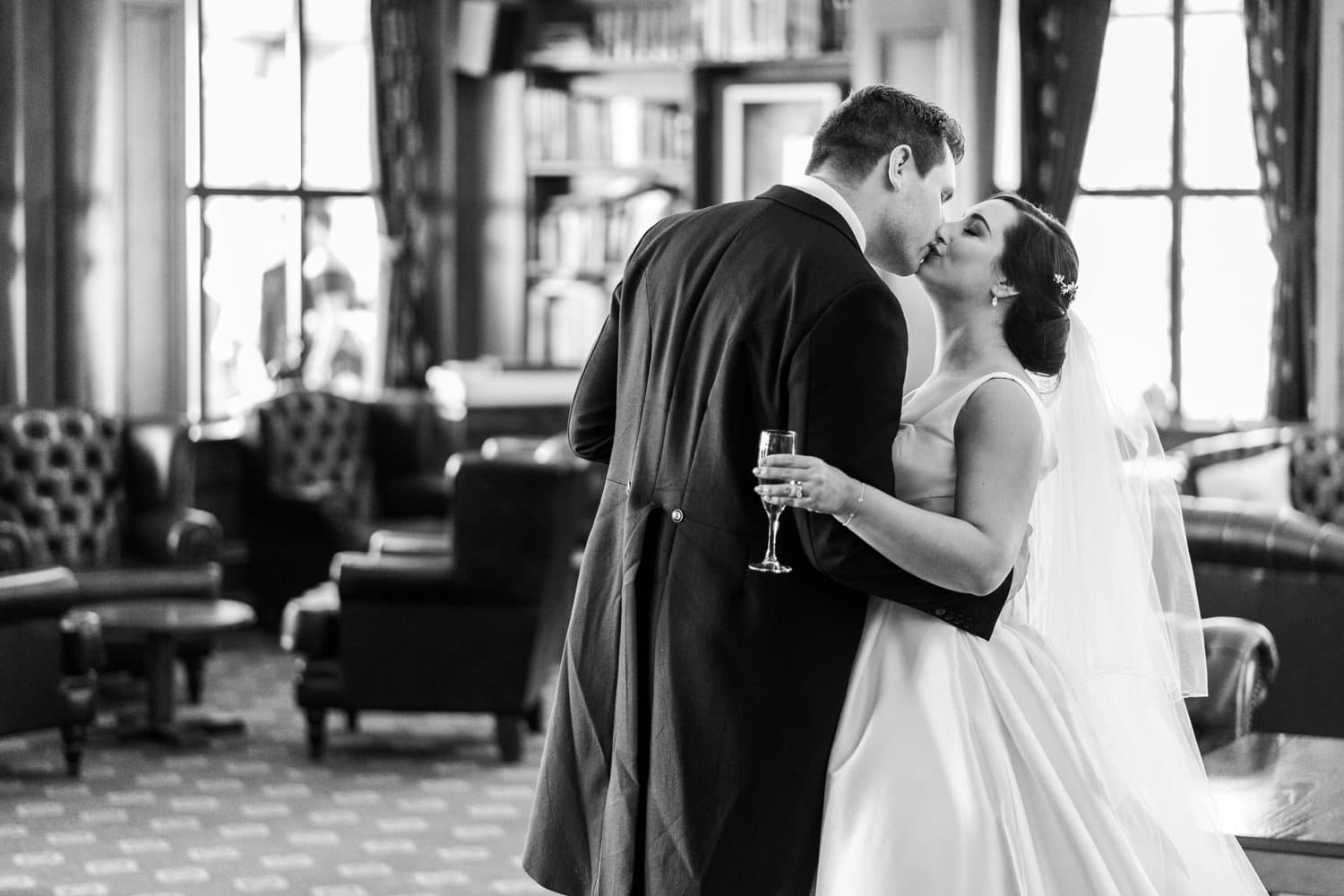 Bride and groom arriving at 2010 Clubhouse at the Celtic Manor Clubhouse