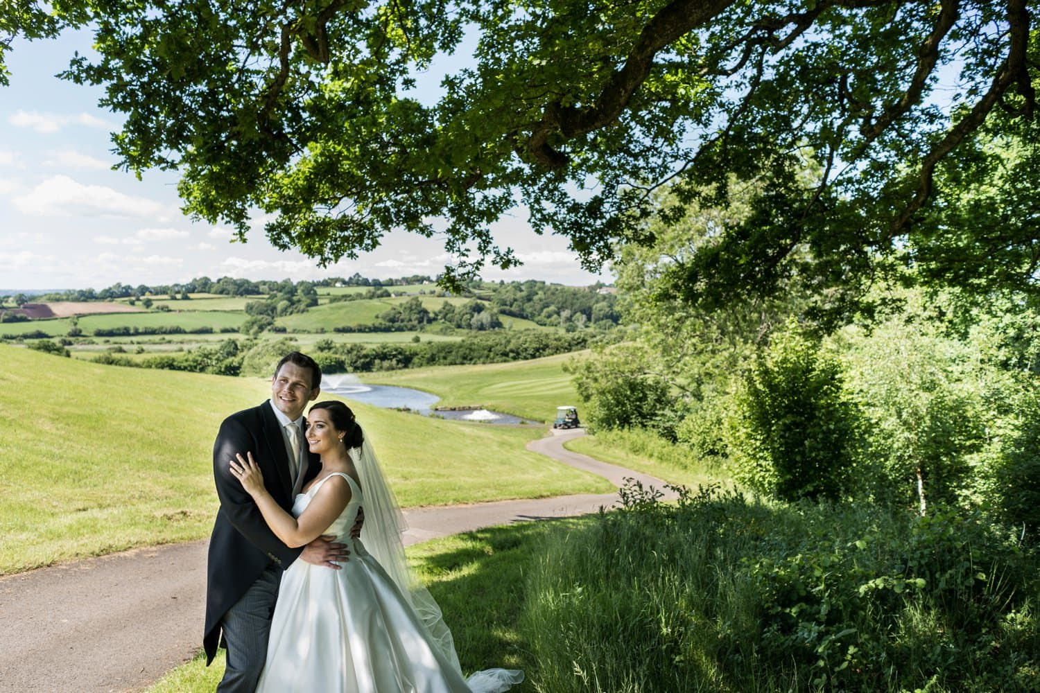 Bride and groom portraits at the 2010 Clubhouse at the Celtic Manor