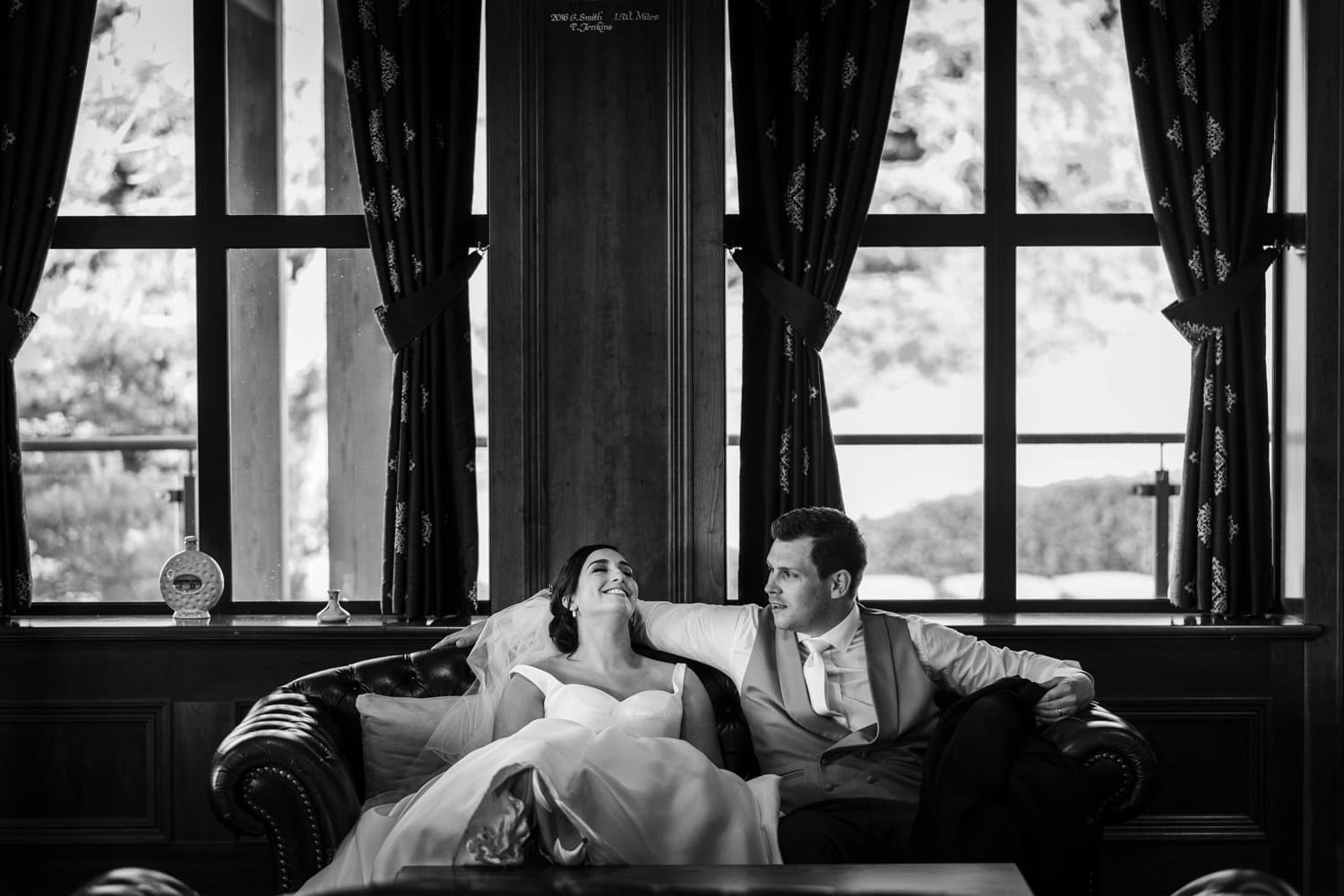 Bride and groom at the 2010 Clubhouse at the Celtic Manor