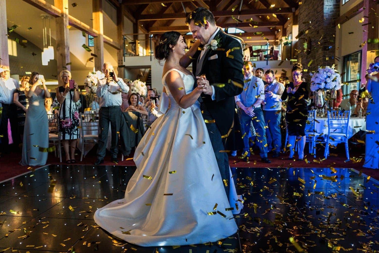 Bride and groom first dance at the 2010 Clubhouse, Celtic Manor