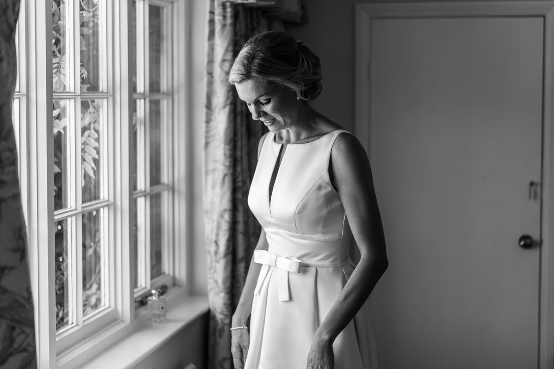 Bridal window lit at a Glanusk Park Estate wedding