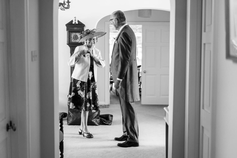 Parents waiting at a Glanusk Park Estate wedding
