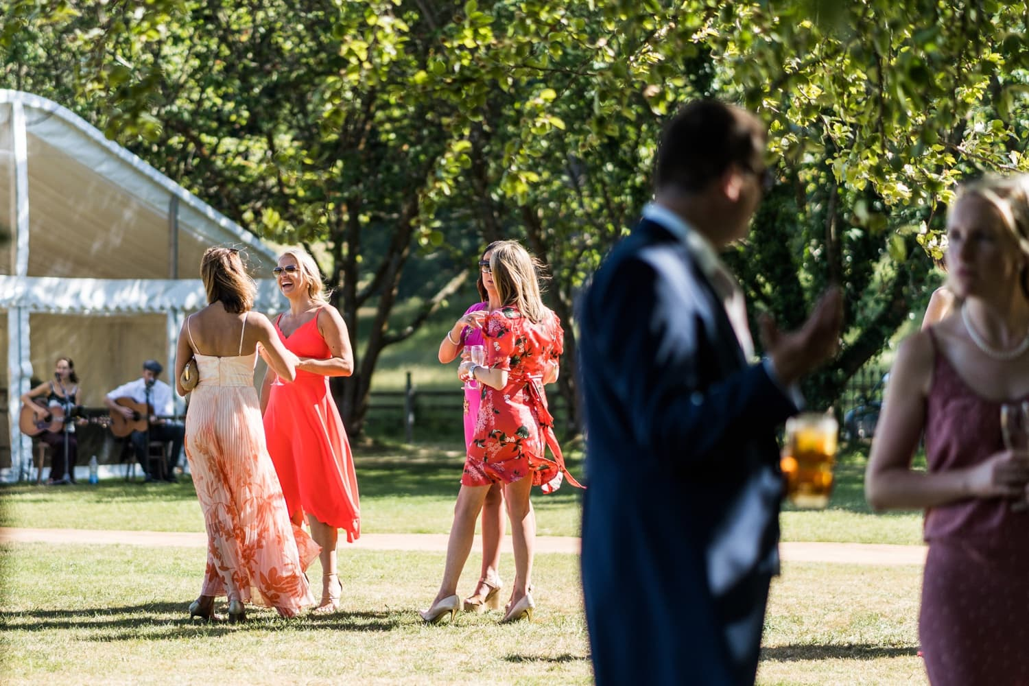 Wedding reception at the Glanusk Park Estate in South Wales