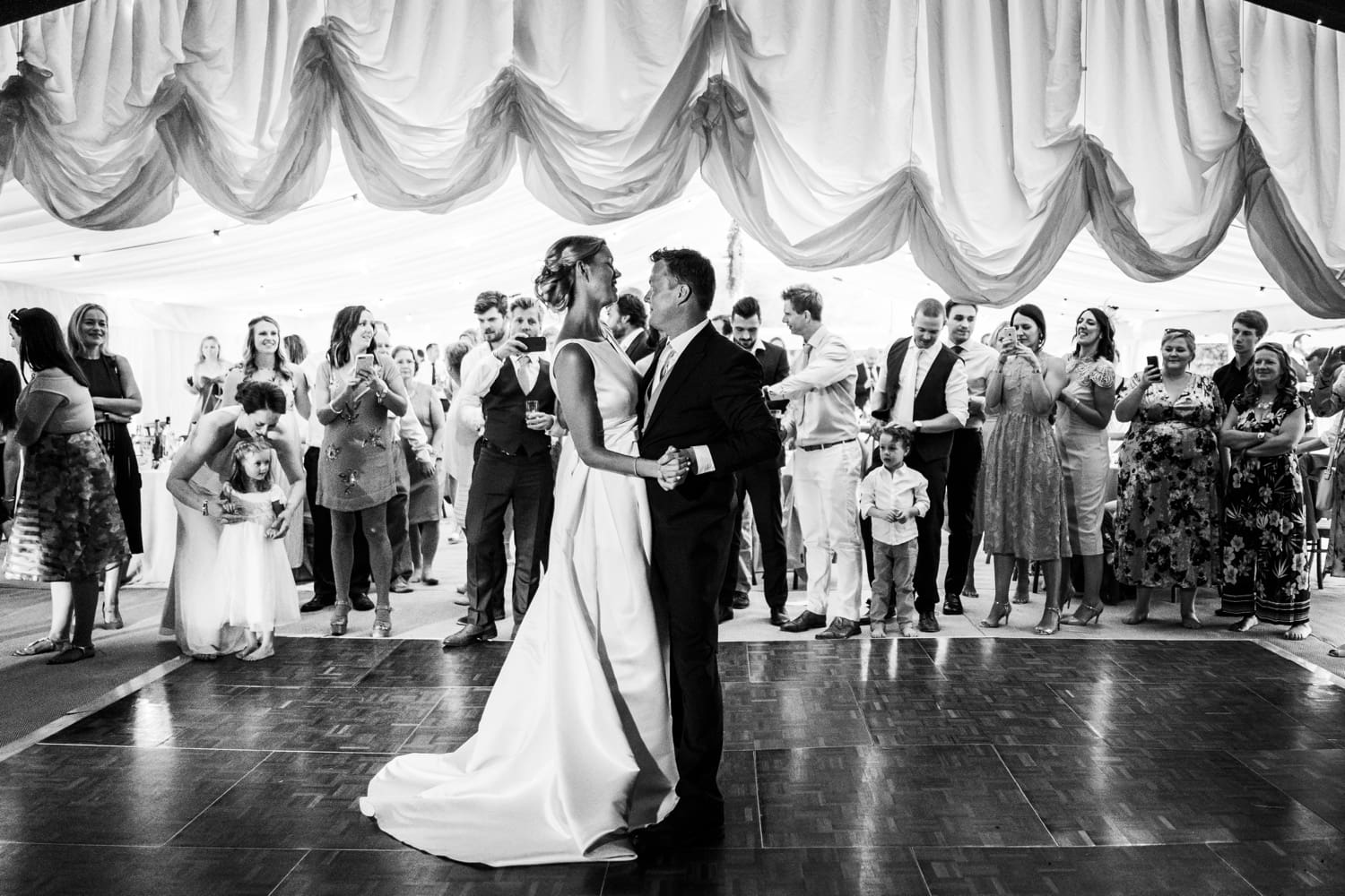 Wedding dancing at the Glanusk Park Estate in South Wales