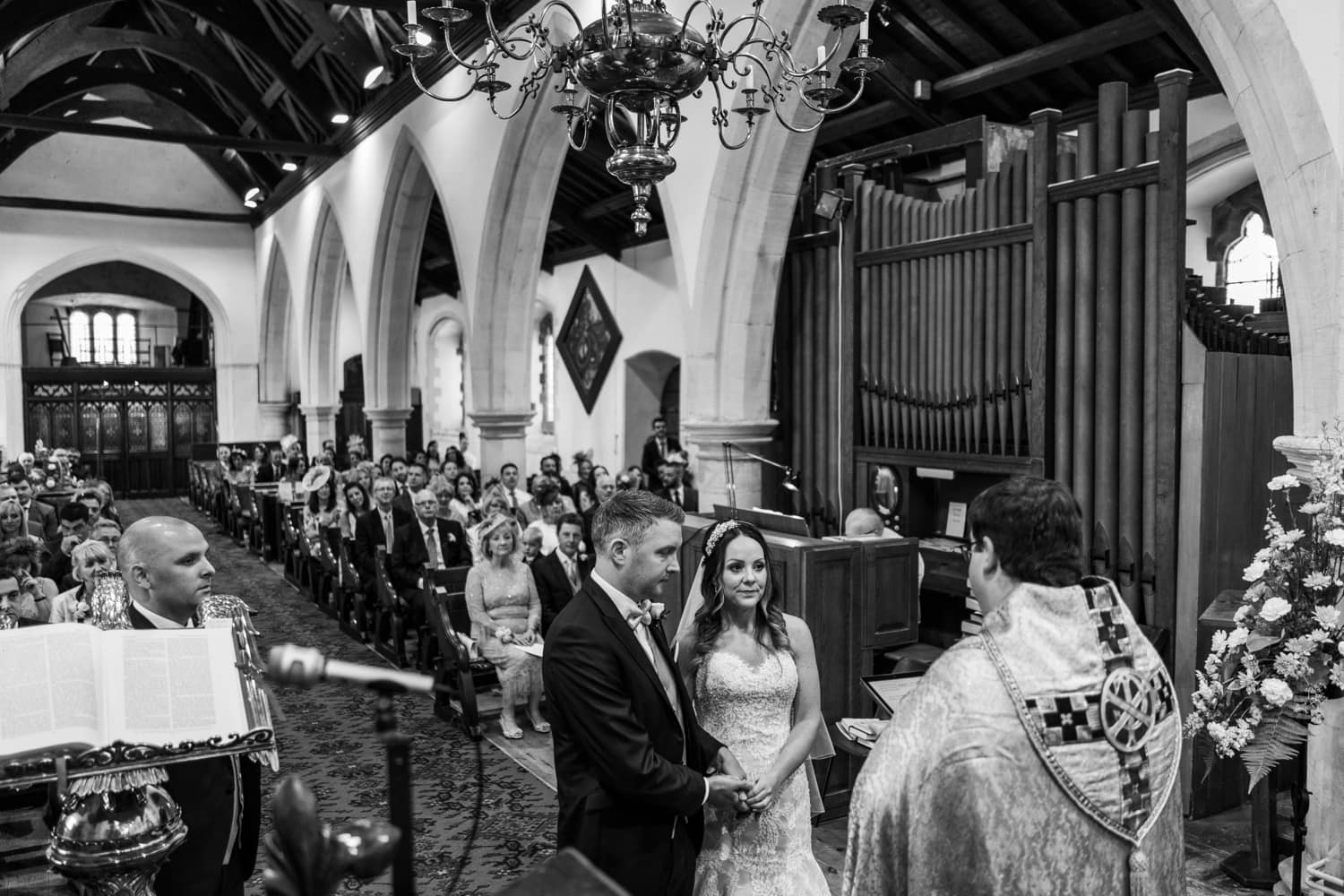 Wedding at Llantrisant Church in South Wales