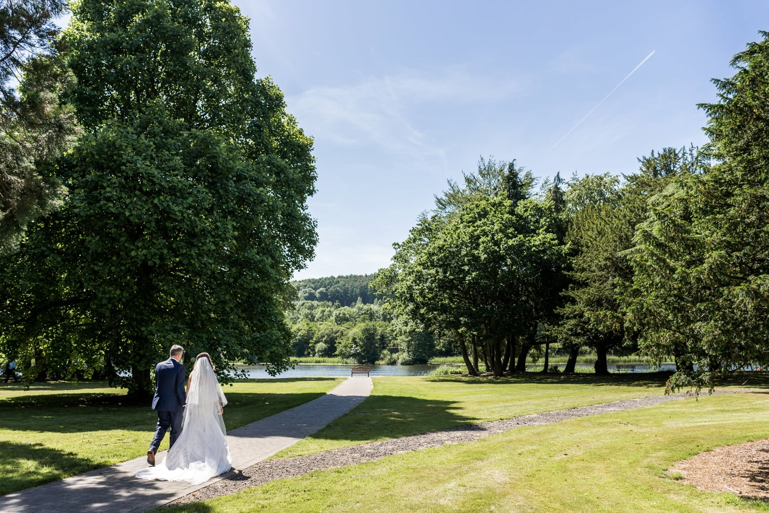 Bride and groom at Hensol Castle wedding