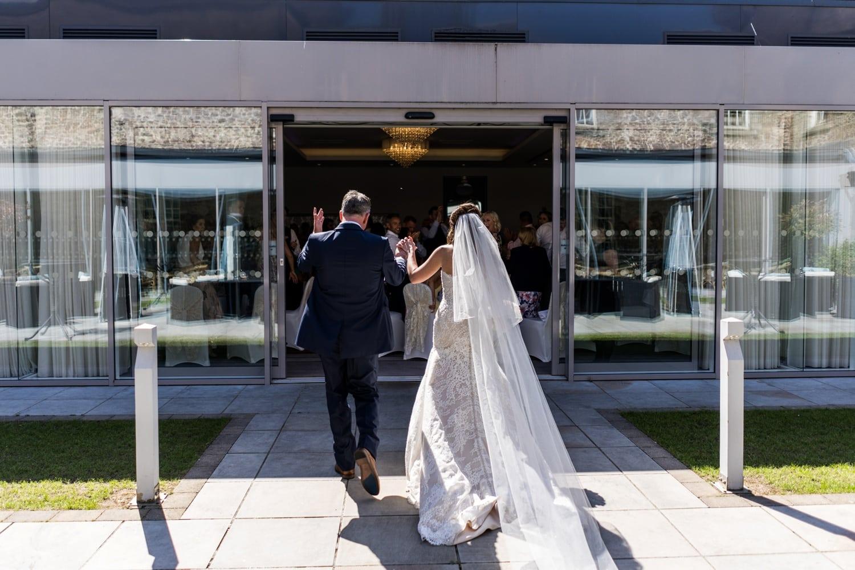 Bridal entrance at Hensol Castle wedding
