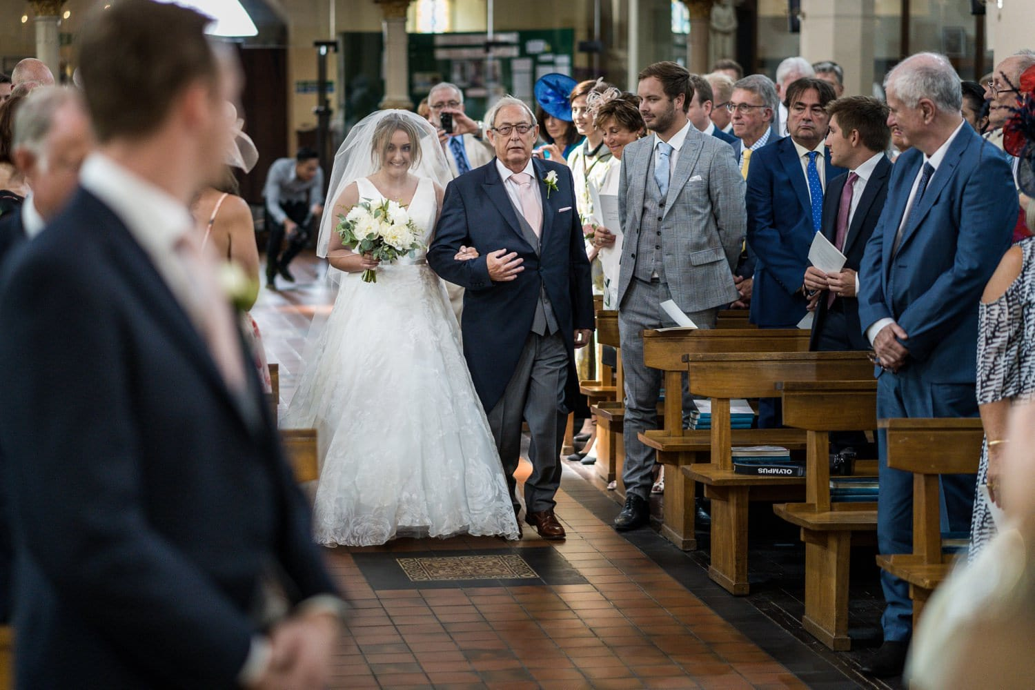 St Peters RC wedding, Cardiff