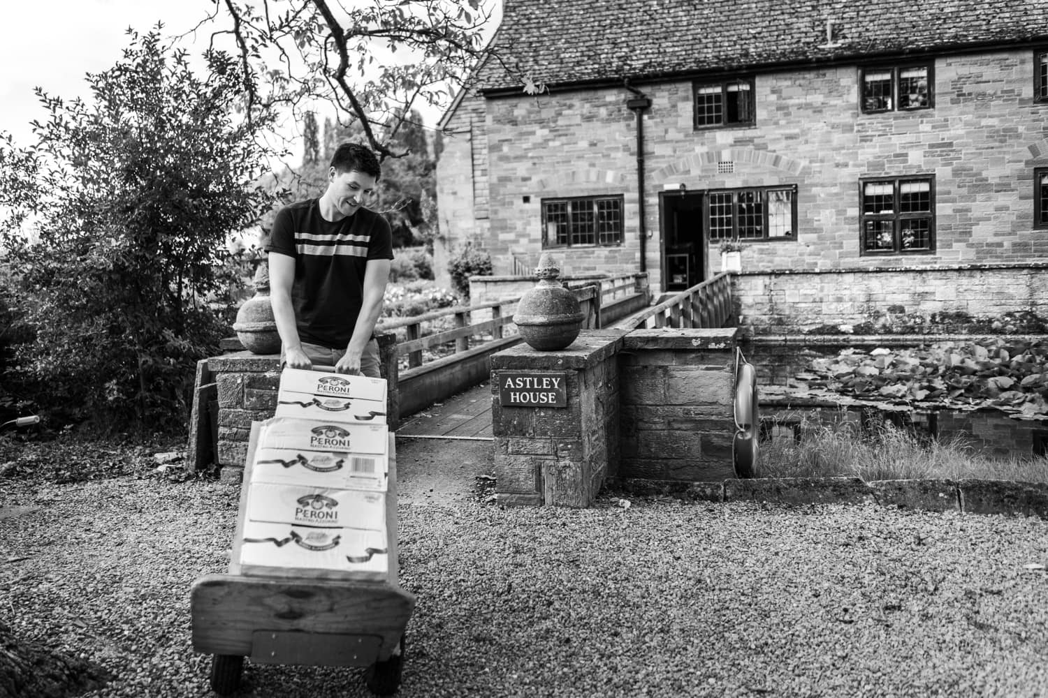 Beer delivery at a Brinsop Court wedding