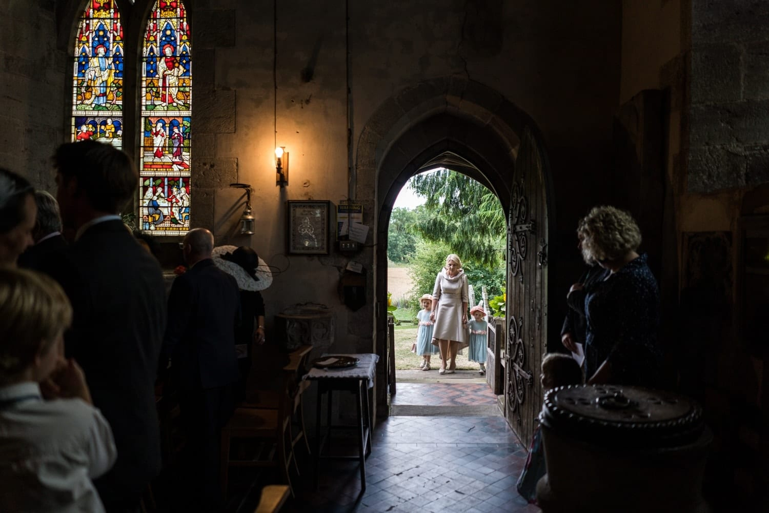Wedding ceremony at St George's Church in Brinsop
