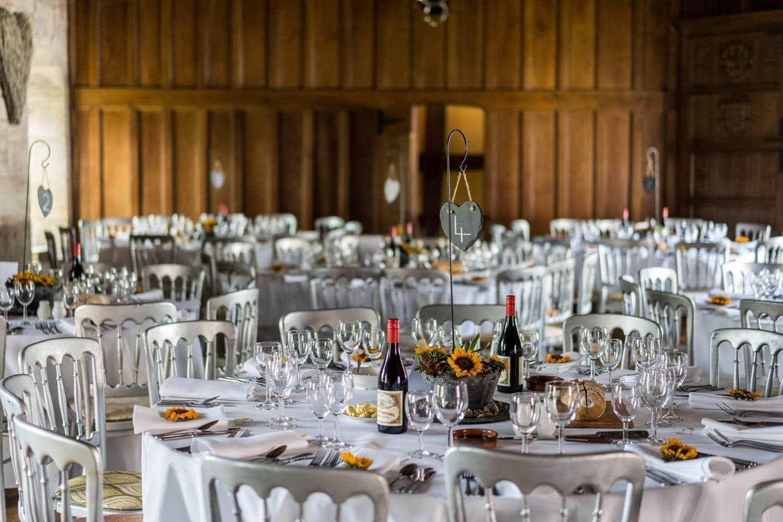 Wedding reception at at a Brinsop Court