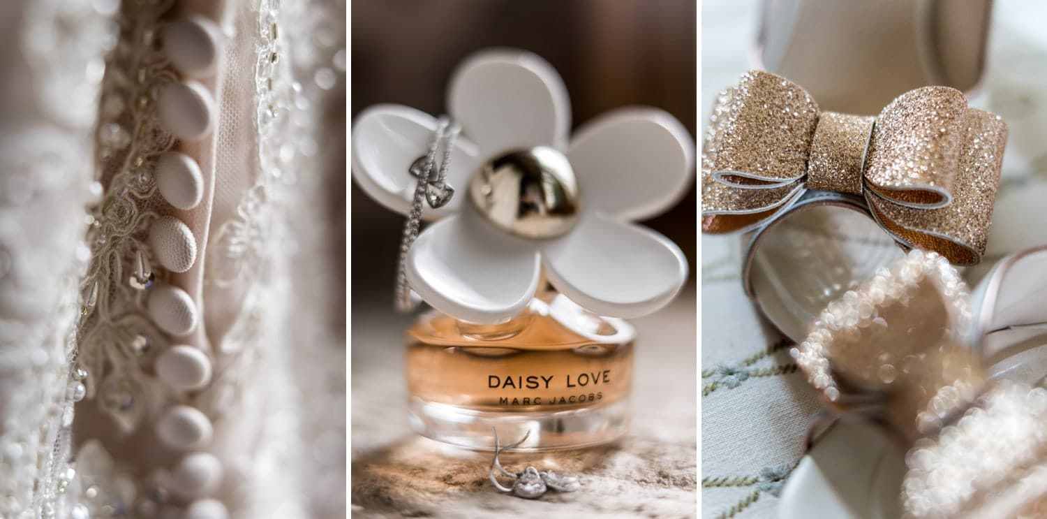 Bride perfume at Herefordshire wedding venue Flanesford Priory