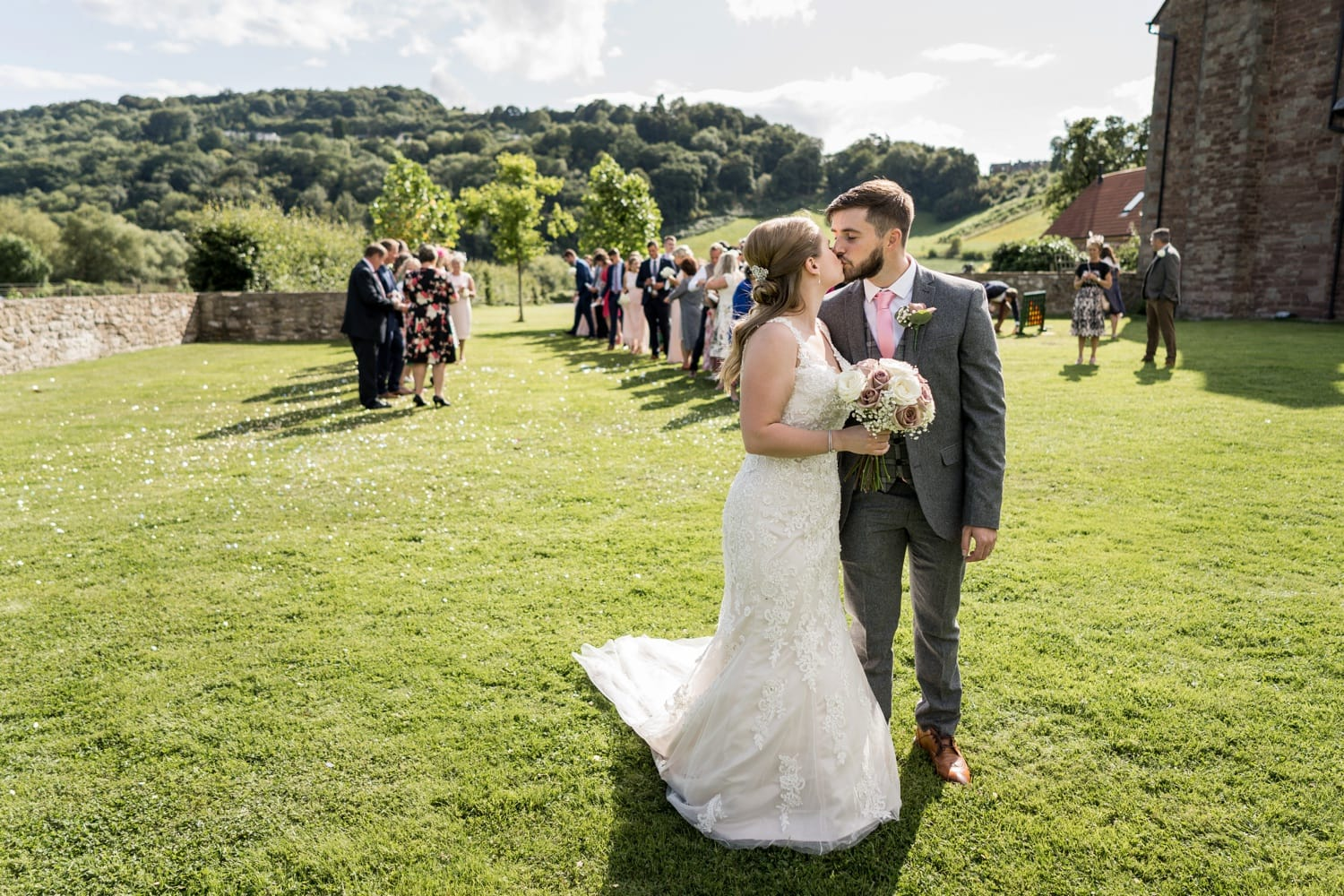 at Herefordshire wedding venue Flanesford Priory
