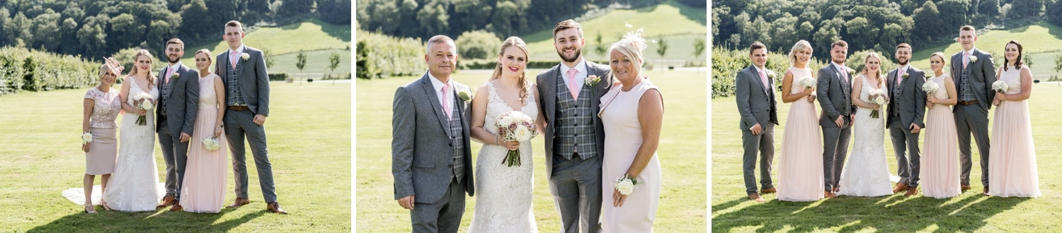 Group shost at Herefordshire wedding venue Flanesford Priory