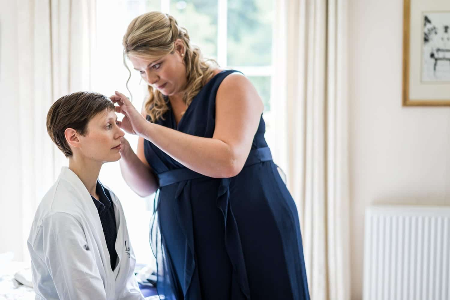 Bridal prep for a Cotswold wedding at Soho Farmhouse