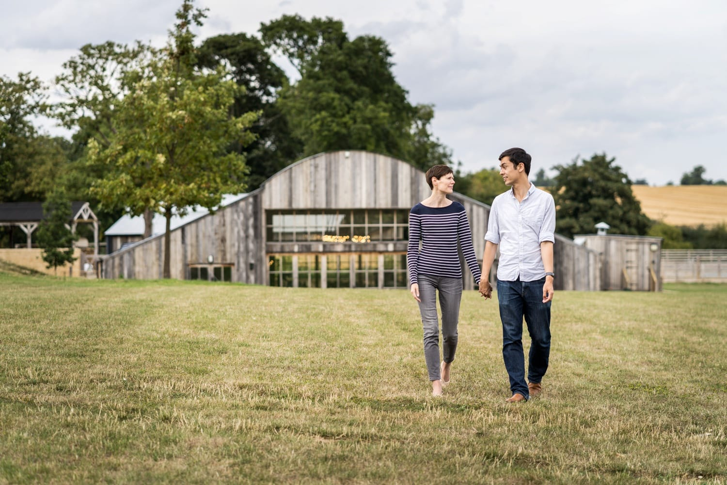 Engagement shoot at Soho Farmhouse