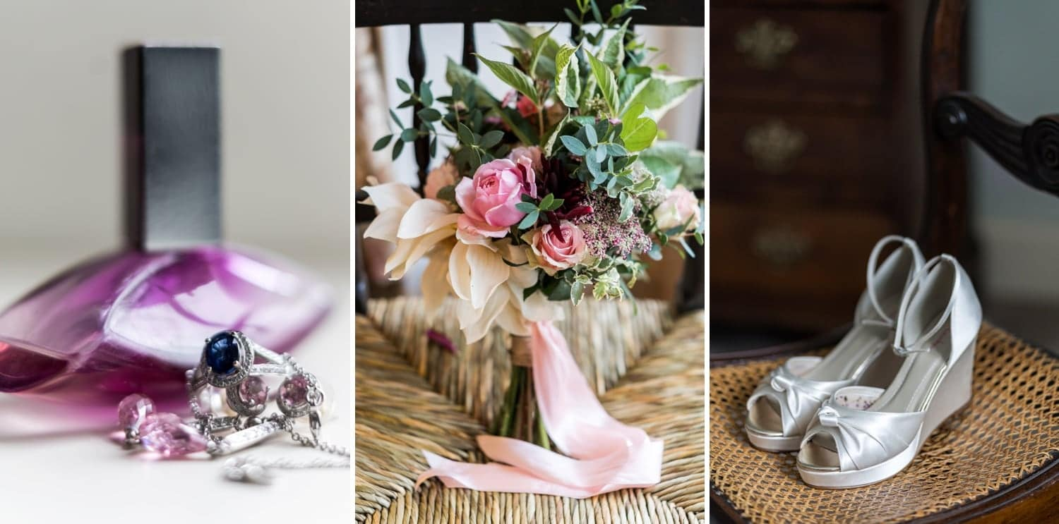 Monmouthshire wedding flowers and bridal shoes