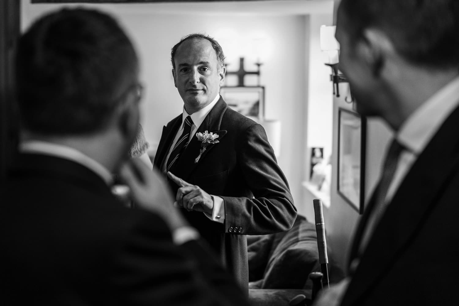 Groom portrait in Monmouthshire