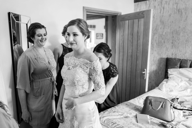 Bridal preparations at Oldwalls, South Wales