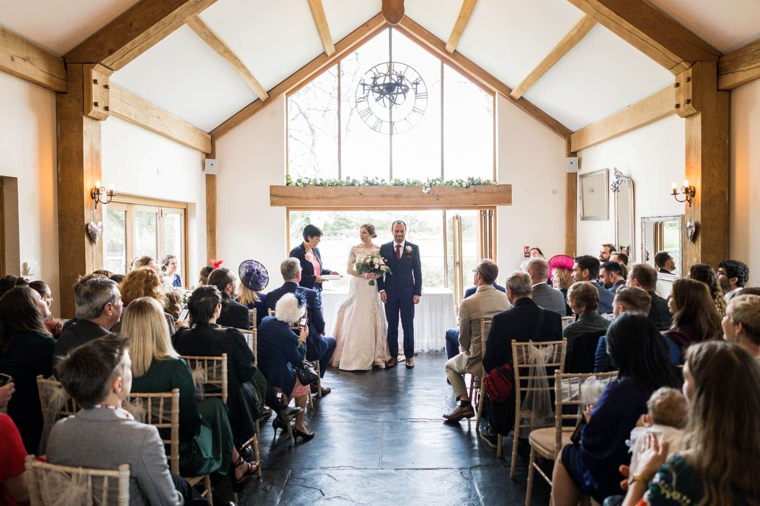 Wedding ceremony at Oldwalls, South Wales