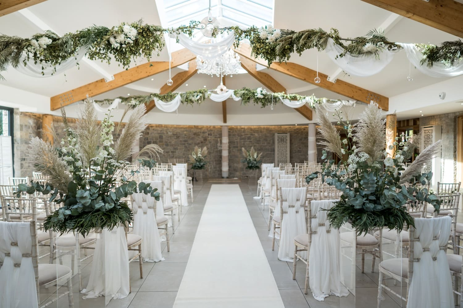 Marriage ceremony room at St Tewdrics House, Monmouthshire, South Wales