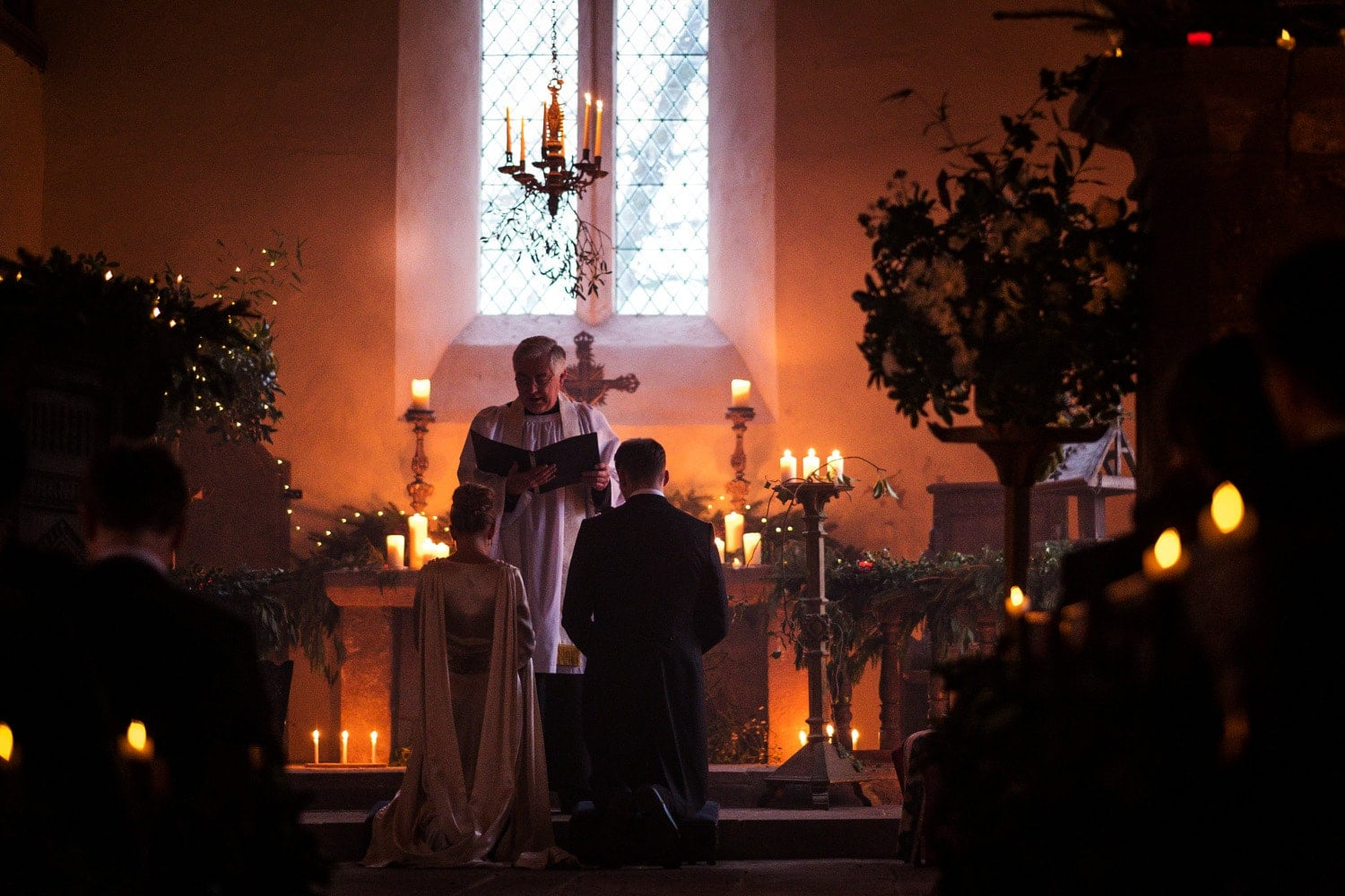 Candle lit marriage ceremony