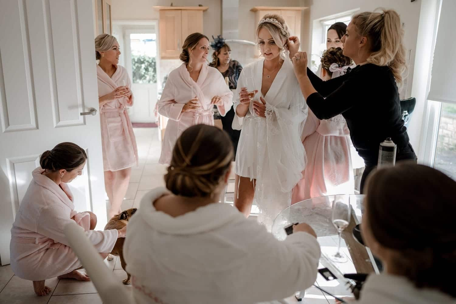 Bride gets ready in South Wales