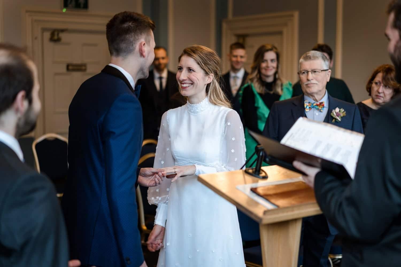 Cardiff City Hall marriage ceremony