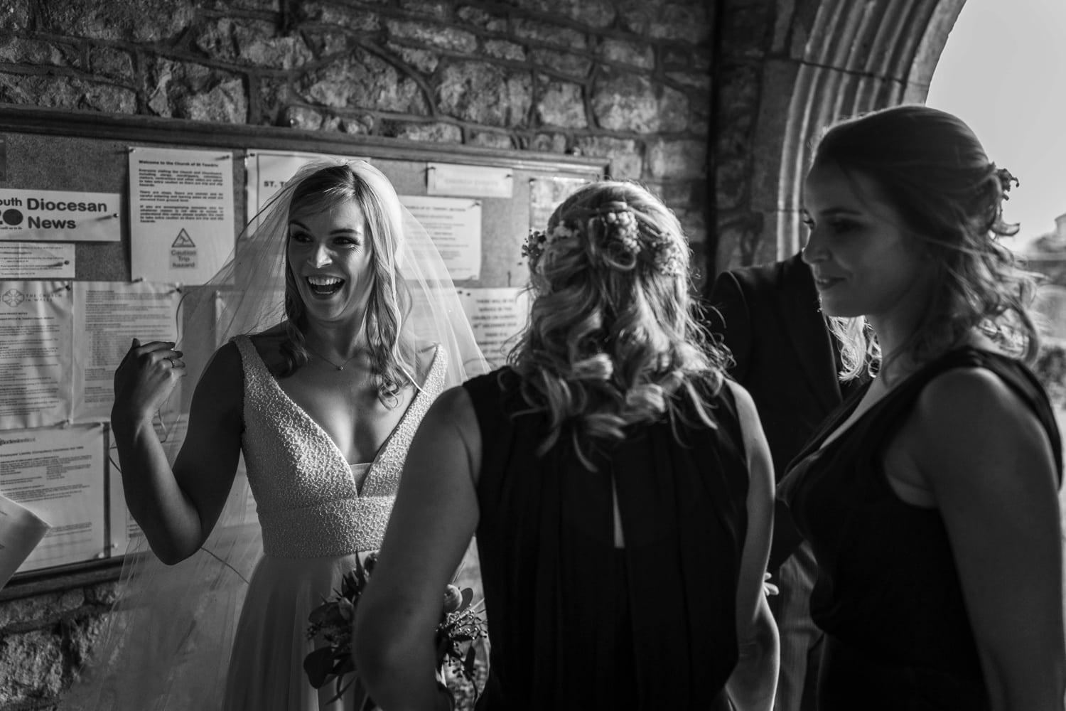Wedding at St Tewdric's Church in Monmouthshire