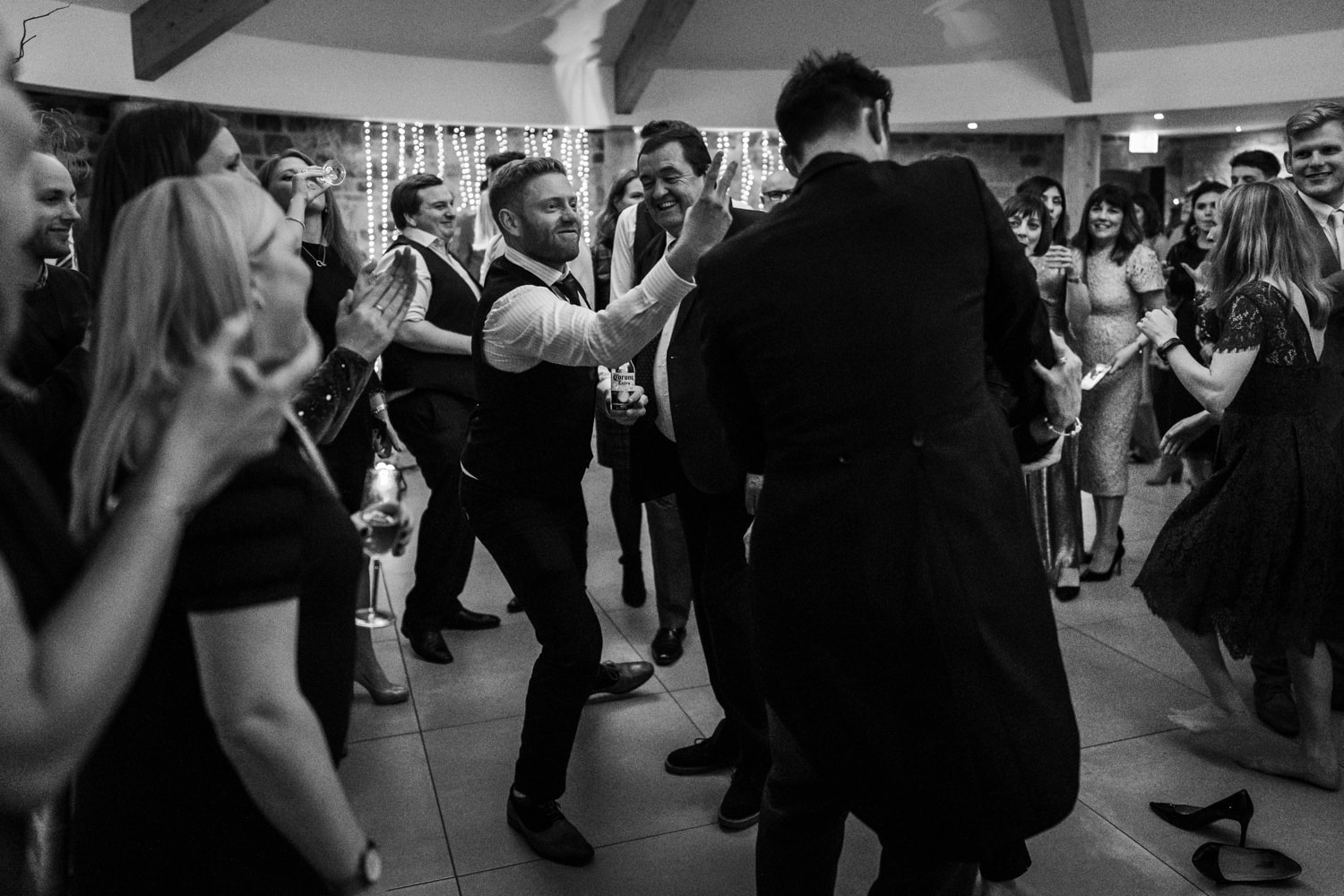 Wedding dancing at St Tewdrics House in Monmouthshire