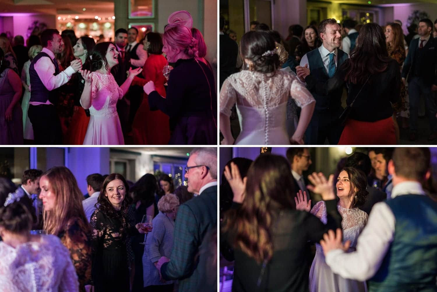 Wedding dancing at Holm House in South Wales