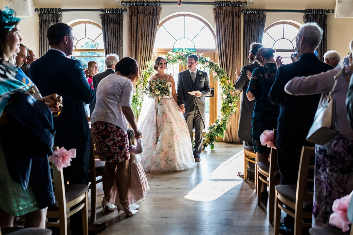 Marriage ceremony at King Arthur Hotel in South Wales