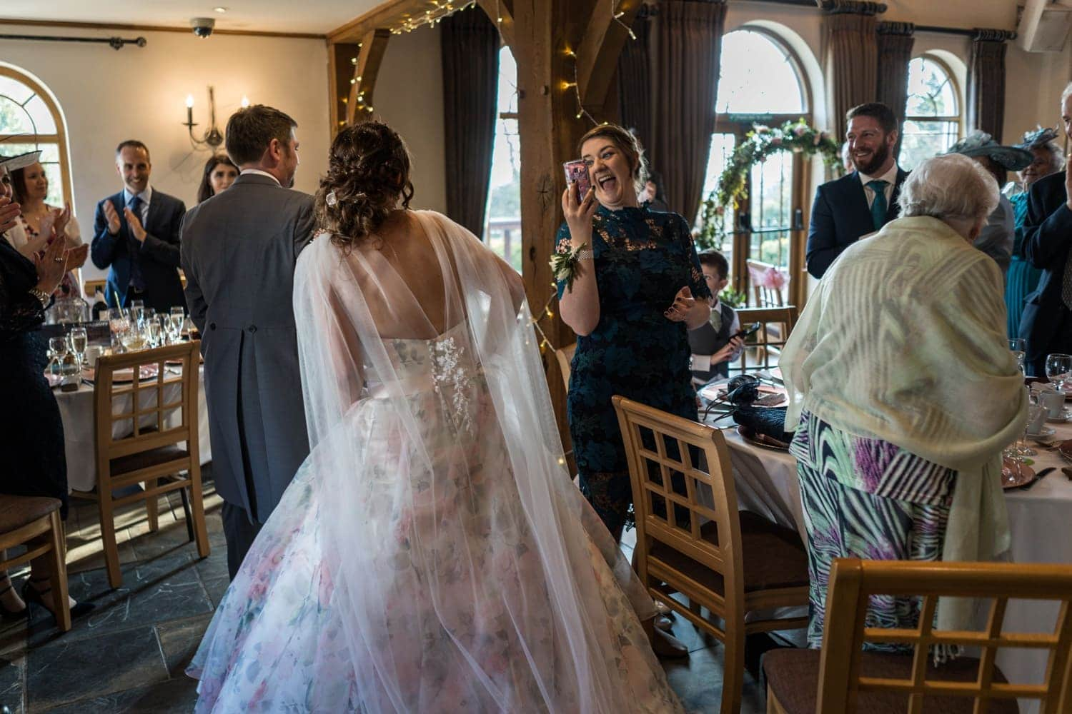 Wedding day speeches at King Arthur Hotel in South Wales
