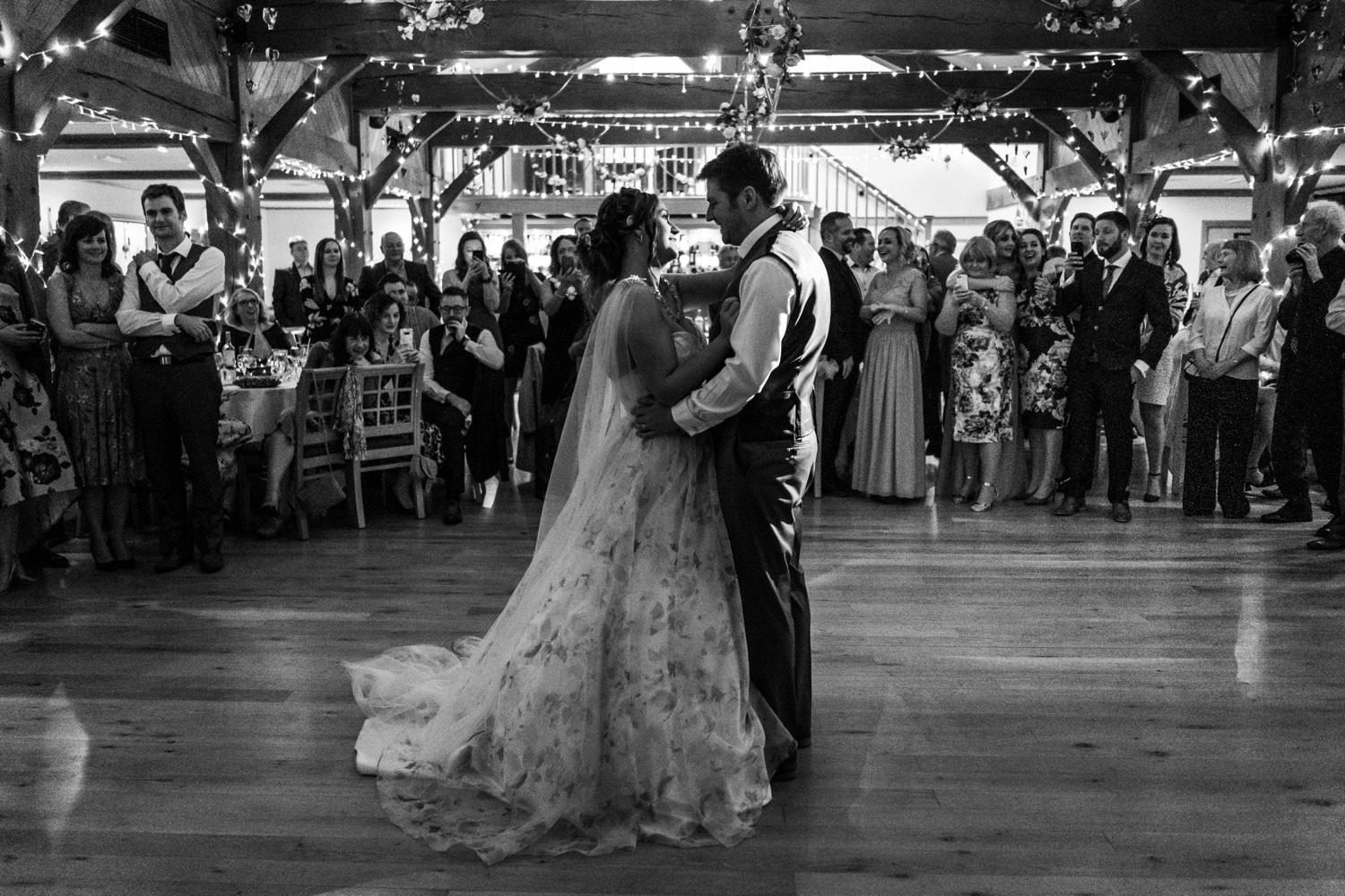 First dance at the King Arthur Hotel, Gower, South Wales