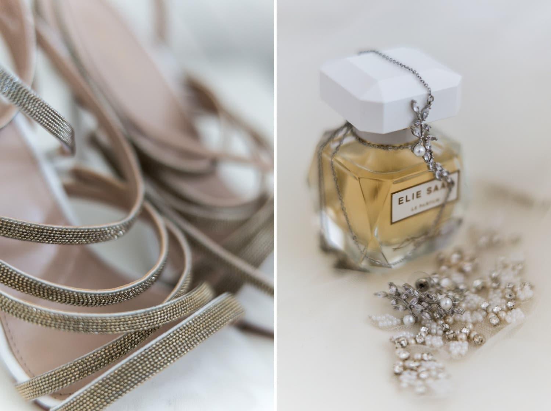 Santorini Wedding Photography, shoes and jewellery
