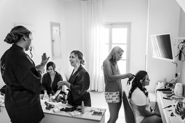 Santorini Wedding Photography, bridal make up