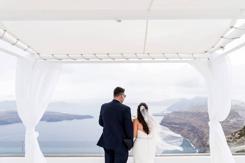 Santorini Wedding Photography, wedding ceremony at Gem Villa
