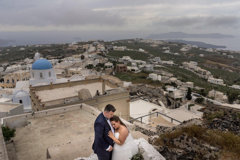 Santorini Wedding Photography at Pyrgos village
